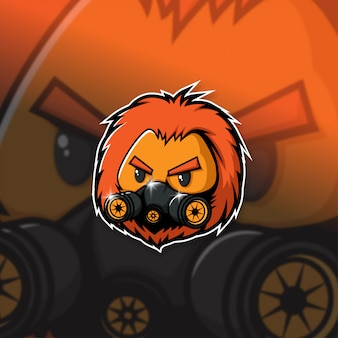 Esports maskottchen logo team lion squad