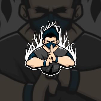 Esports maskottchen logo team ninja squad