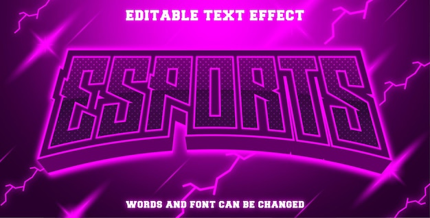 Esports texteffekt lila farbe