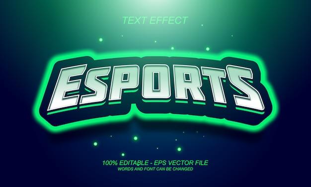 Esports-texteffekt
