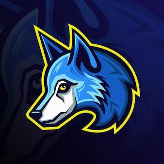 Esports-wolf-maskottchen-teamlogo