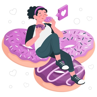 Essen donuts konzept illustration