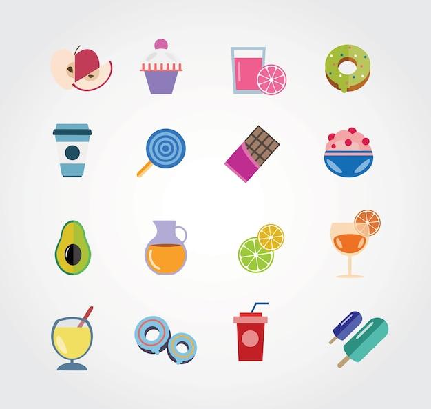 Essen freien vektor-set. icons für design