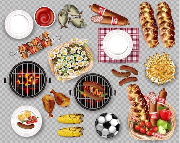 Essen für picknick-grill-sammlung