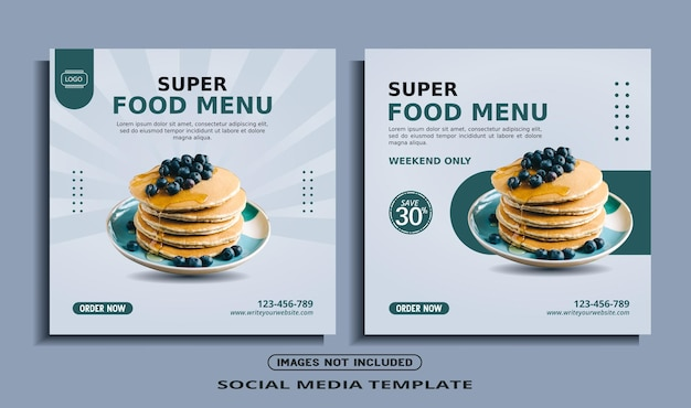 Essen instagram social media banner post vorlage