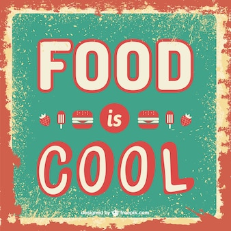 Essen ist coolen retro-vorlage