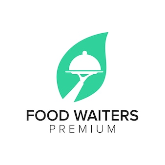 Essen kellner logo symbol vektor vorlage