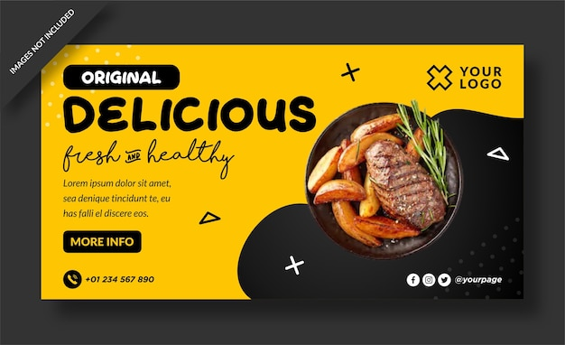 Essen köstliche banner vorlage