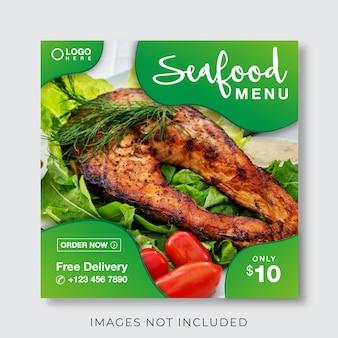 Essen kulinarische menü banner für social media und instagram post vorlage