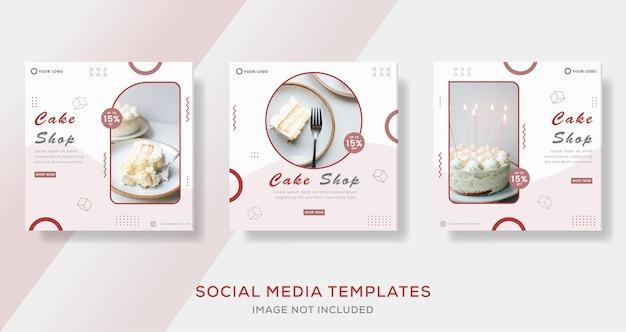 Essen kulinarischer kuchen menü banner für social media template post premium