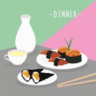 Essen mahlzeit abendessen milchprodukte essen trinken menü restaurant vektor