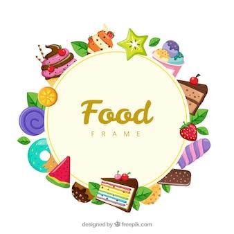 Essen rahmen mit desserts