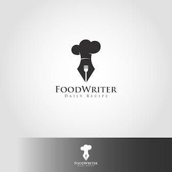 Essen schriftsteller logo vorlage
