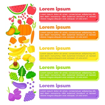 Essen sie ein regenbogen-infografik-konzept