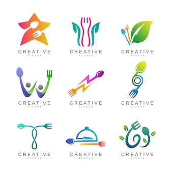 Essen und restaurant-logo-sammlung