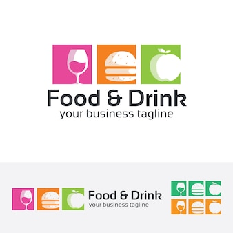 Essen und trinken vektor-logo-vorlage