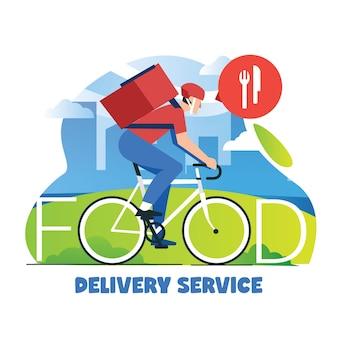 Essenslieferservice mit dem fahrrad