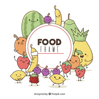 Essensrahmen mit cartoons