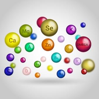 Essentielles vitamin und mineralien