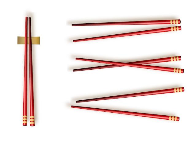 Essstäbchen. set zubehör für sushi isolated illustration