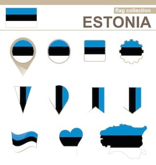 Estland flaggenkollektion, 12 versionen