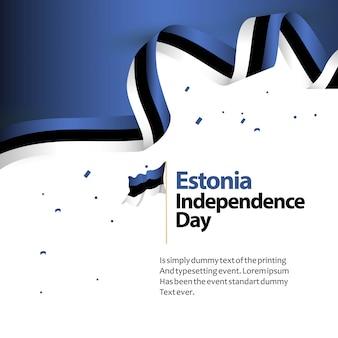 Estland-unabhängigkeitstag-vektor-schablonen-design-illustration