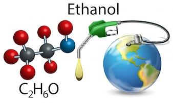 Ethanol und chemische Formel