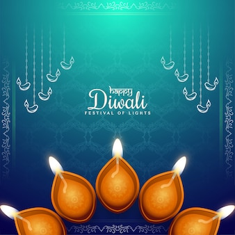 Ethinc kultur happy diwali festival gruß hintergrund