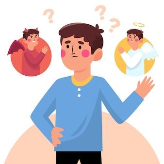 Ethische dilemma-illustration