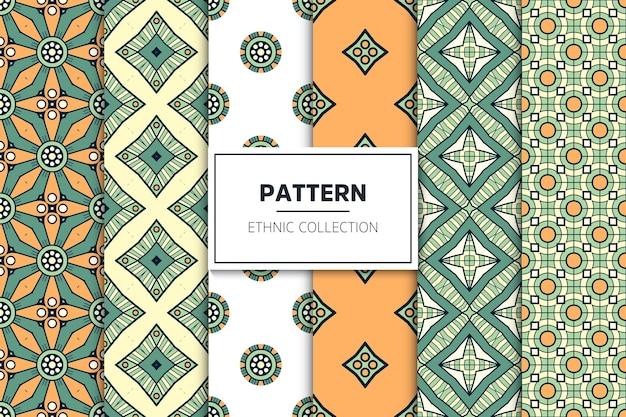 Ethnische dekorative musterkollektion des luxus