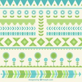 Ethnische dekorkollektion in flaches design