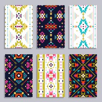 Ethnische geometrische banner-set