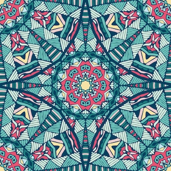 Ethnische geometrische nahtlose vintage medaillon mandala ornamentmuster