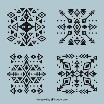 Ethnische geometrische tattoo-sammlung mit pfeilen