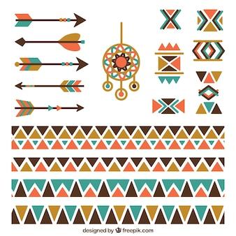 Ethnische grenzen mit indischen elementen