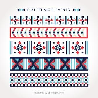 Ethnische grenzen packen in flaches design