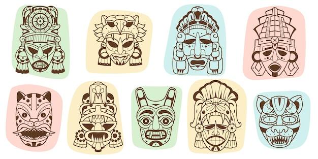 Ethnische indisch-amerikanische inka-elemente