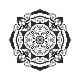Ethnische mandala auf weißem hintergrund