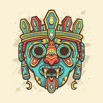 Ethnische maskenillustration