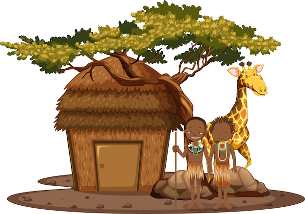 Ethnische menschen afrikanischer stämme isoliert