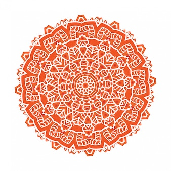 Ethnische psychedelische fractal-mandala-meditation sieht wie schneeflocke aus