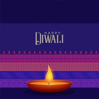 Ethnische stil diwali festival hintergrundvorlage