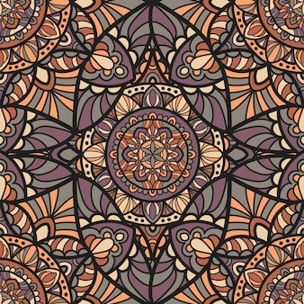 Ethnischen stil mandala hintergrund