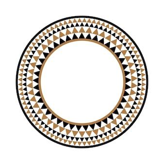 Ethnischer afrikanischer stammes- runder vektorrahmen oder kreisgrenze