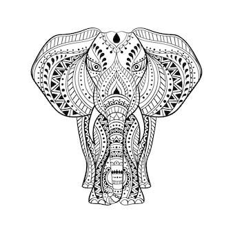 Ethnischer indischer elefant