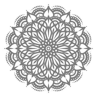 Ethnischer stil der mandalaillustration für dekoration