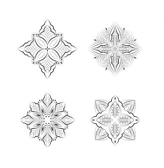 Ethnisches dekoratives mandala-design
