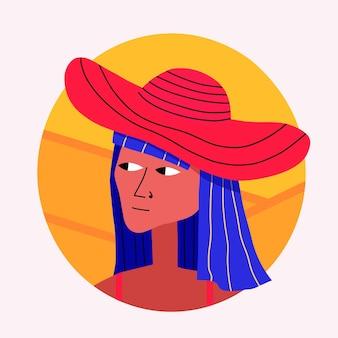 Ethnisches frauen-avatar-porträt