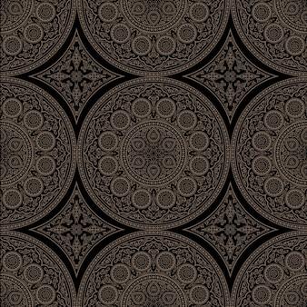 Ethnisches komplexes nahtloses muster mit mandala - runde verzierung