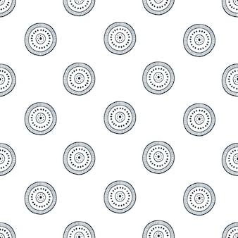 Ethnisches motiv im scandi-stil. vektor nahtlose muster.